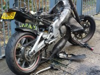 Motorbike was Burnt Out