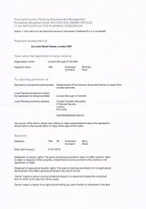 Planning Application 22-07-2016