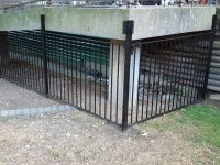 Metal Fencing Around Ramps