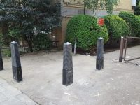 New fixed metal bollards