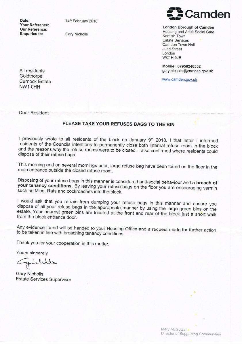 Rubbish Disposal Letter   CSE News