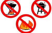 BBQs are not allowed anywhere on the estate